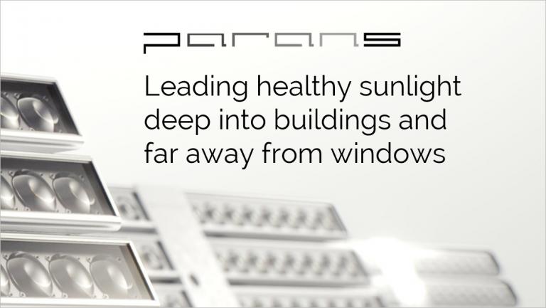 Leading Sunlight deep into buildings, far away from windows.